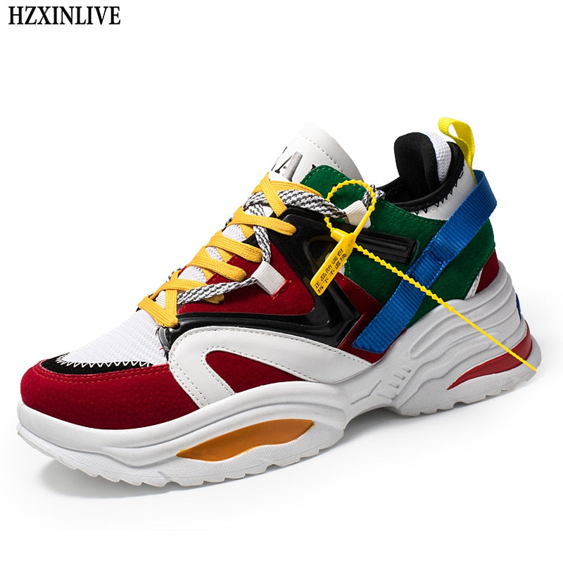 habazoo - Trendy Lace Up Sneakers - Habazoo -