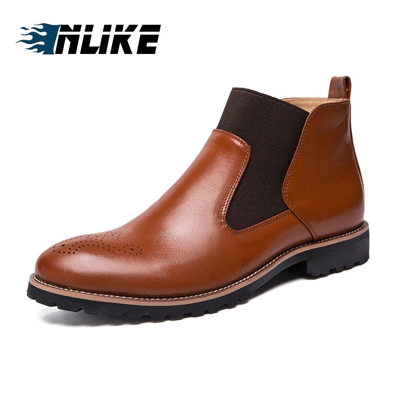 habazoo - New Arrival Luxury Brand Big Size Man Comfortable Boot Male Leather Business Boots Men's Boots Chelsea Ankle Boots - Habazoo -