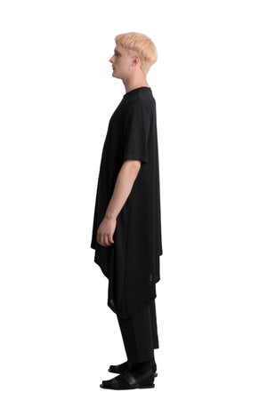 Asymmetric t-shirt - Ludus Agender Label