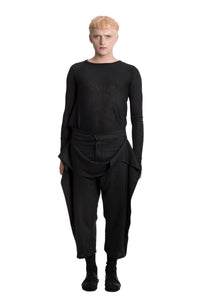 Flax trousers with a twirl - Ludus Agender Label