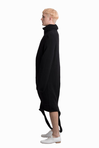 Black hand-knitted dress - Ludus Agender Label