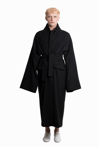 Black wool coat - Ludus Agender Label