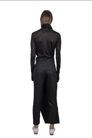 Black 'Apron' Trousers - Ludus Agender Label