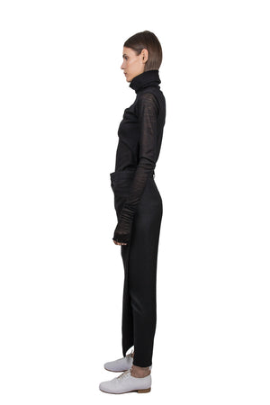 Black 'Apron' Trousers