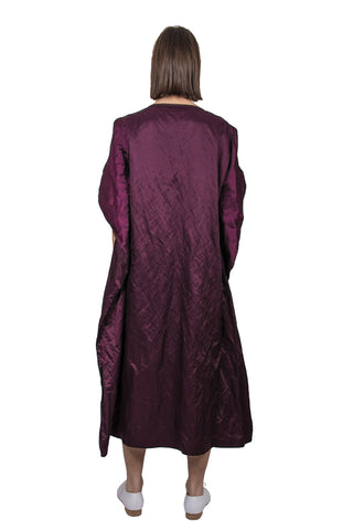 Purple Silk Blend Dress - Ludus Agender Label