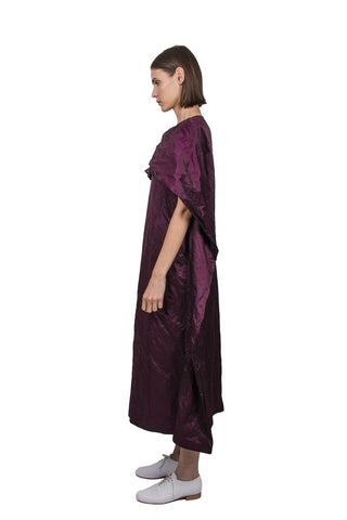 Purple Silk Blend Dress