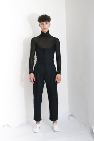 Corseted Wool Trousers (M) - Ludus Agender Label