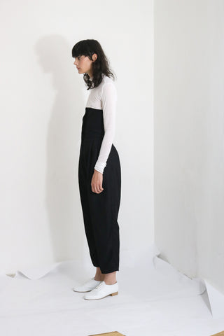Corseted Wool Trousers (S) - Ludus Agender Label