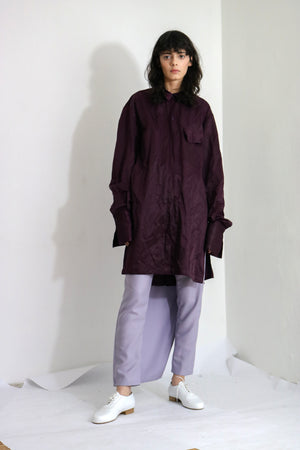 Purple Silk Blend Shirt - Ludus Agender Label