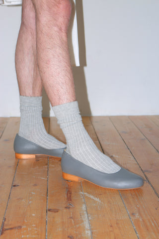 Grey slip-on shoes