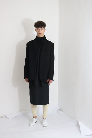 Black Wool Jacket (M) - Ludus Agender Label