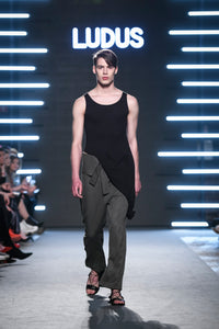 Olive Cotton Trousers - Ludus Agender Label