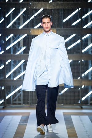 Oversized Cape Shirt - Ludus Agender Label