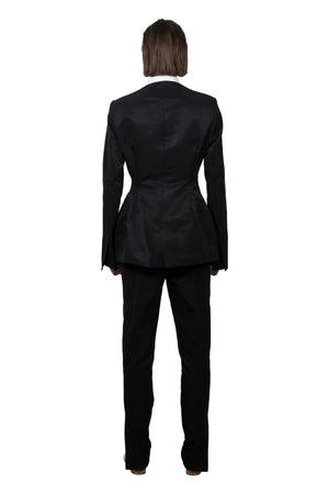 Black Slashed Tailored  Jacket - Ludus Agender Label