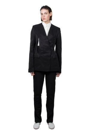 Black Slashed Tailored  Jacket