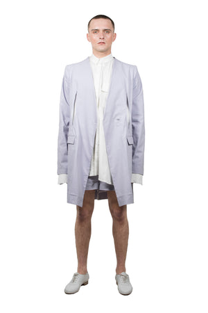 Lavender Slashed Tailored  Jacket - Ludus Agender Label