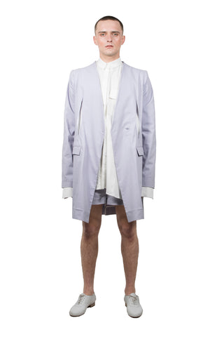 Lavender Slashed Tailored  Jacket