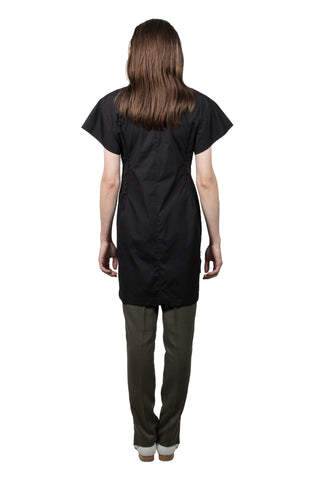 Black Cotton Slashed T-shirt - Ludus Agender Label