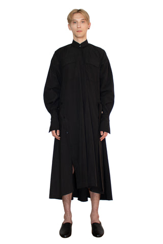 Black elongated post-gender shirt