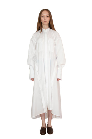 White elongated post-gender shirt