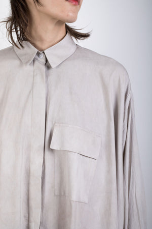 Zero waste naturally dyed elongated shirt