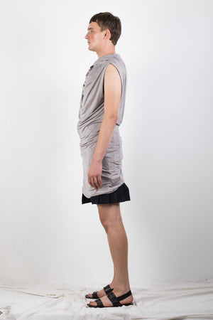 Naturally dyed draped jersey top