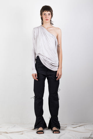 Naturally dyed jersey shoulder top