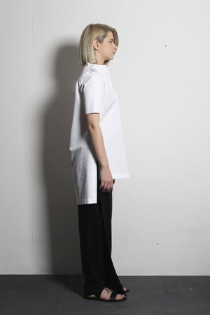 Asymmetric Black Flax Trousers - Ludus Agender Label