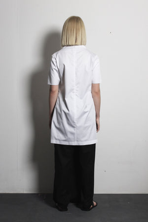 White Cotton Top - Ludus Agender Label