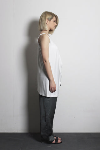 White Asymmetric T-shirt