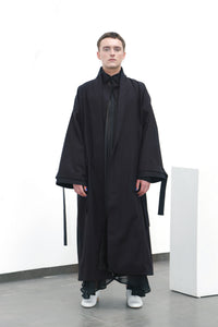 Black cotton coat (M)