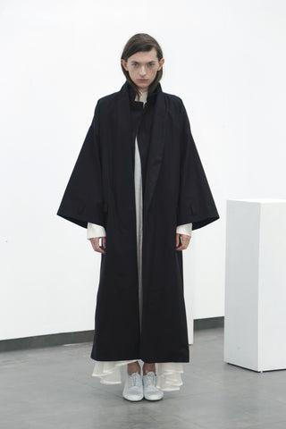 Black cotton coat (S) - Ludus Agender Label