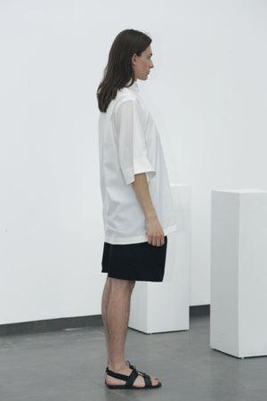 White wide-sleeved shirt