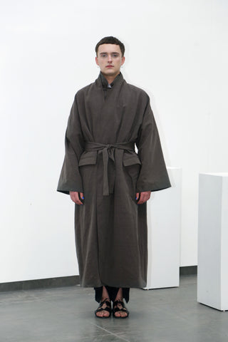 Olive cotton coat - Ludus Agender Label