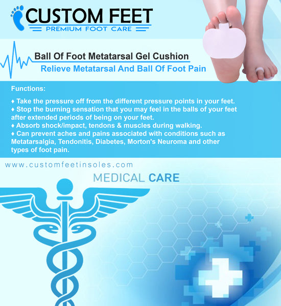 Ball Of Foot Metatarsal Gel Cushion - Relieve Metatarsal And Ball Of Foot Pain