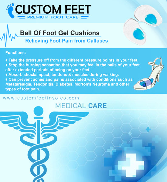 Ball Of Foot Gel Cushions – Foot Pain Reliever From Calluses And Corns