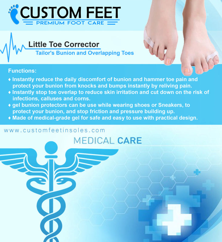 Little Toe Corrector - Tailor's Bunion and Overlapping Toes - Custom Feet Insoles