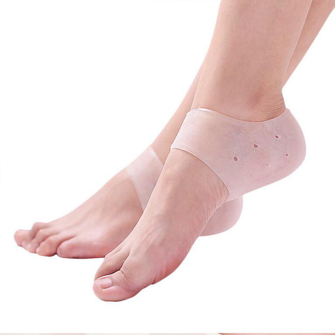 Silicone Heel Compression Socks - For Plantar Fasciitis And Heel Spur - Custom Feet Insoles