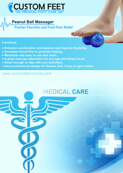 Peanut Ball Massager - Plantar Fasciitis and Foot Pain Relief