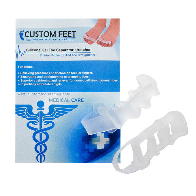 Silicone Gel Toe Separator stretcher - Bunion Protector And Toe straightener