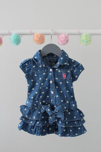 U.S. Polo Assn Dress 6/9M