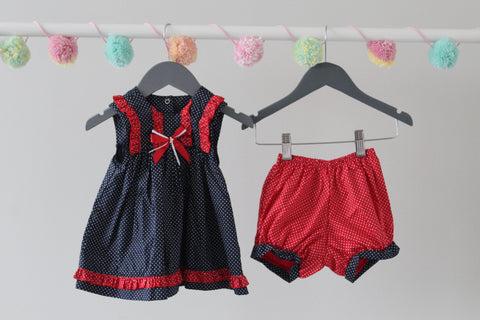 Boutique Dress and Bloomer Set 6-12M