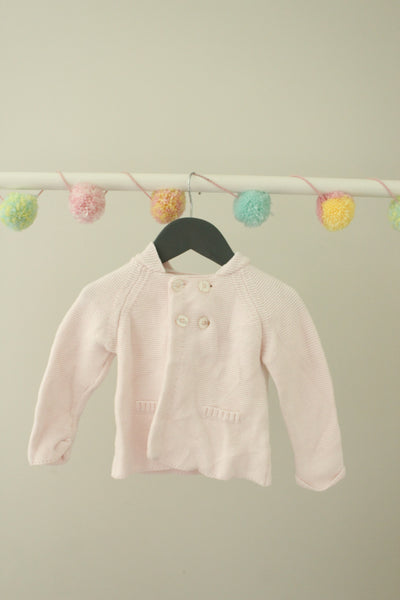 Mides Knit Hooded Cardigan 9M