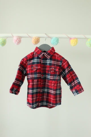 Levi's Plaid Shirt 12M