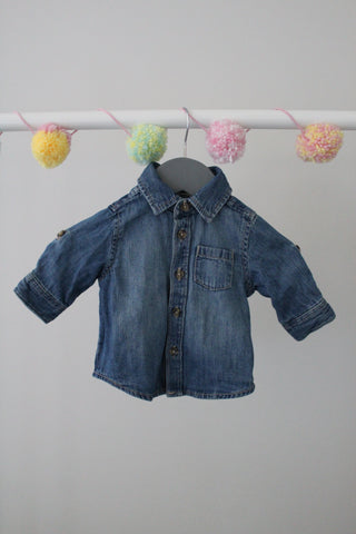 Old Navy Denim Shirt 0-3M