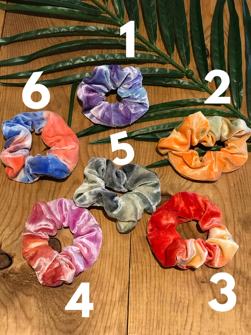 TIE DYE SCRUNCHIES - Couture Cottage Boutique