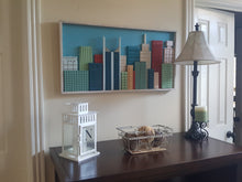 """Colorful"" - Nashville Skyline - Medium 33.5"" x 16"""