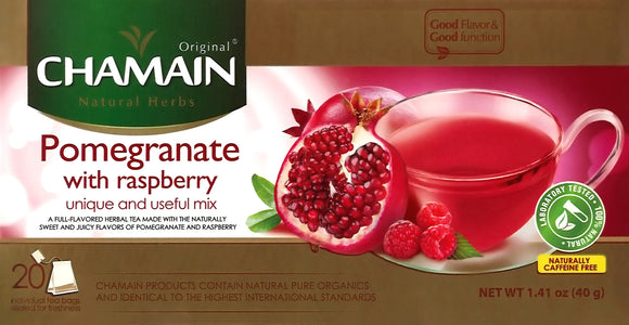 ~Chamain Pomegranate with Raspberry 20 Bag~ {شامين رمان مع التوت البري 20 ظرف}