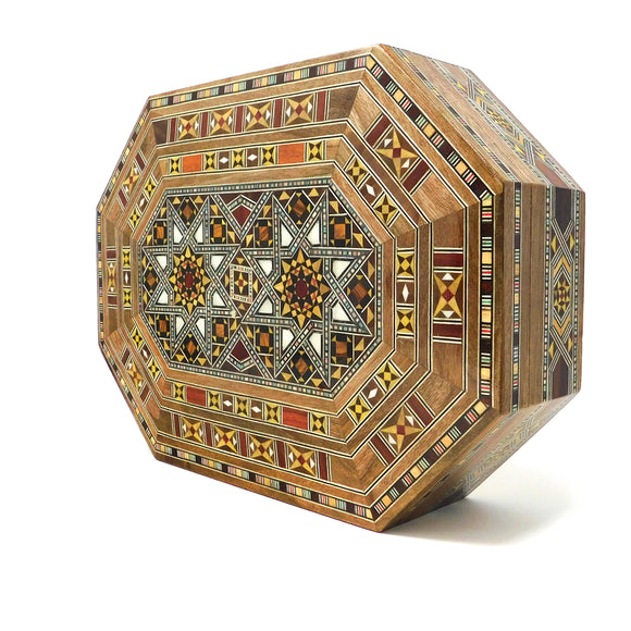 ~Oblong Mosaic & Mother Of Pearl Box - Large~{صندوق موزاييك مصدف طولاني كبير}