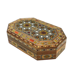 ~Oblong Mosaic & Mother Of Pearl Box - Medium~{صندوق موزاييك مصدف طولاني وسط}